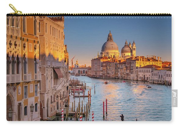 Carry-all Pouch featuring the photograph Evening Light In Venice by Susan Leonard