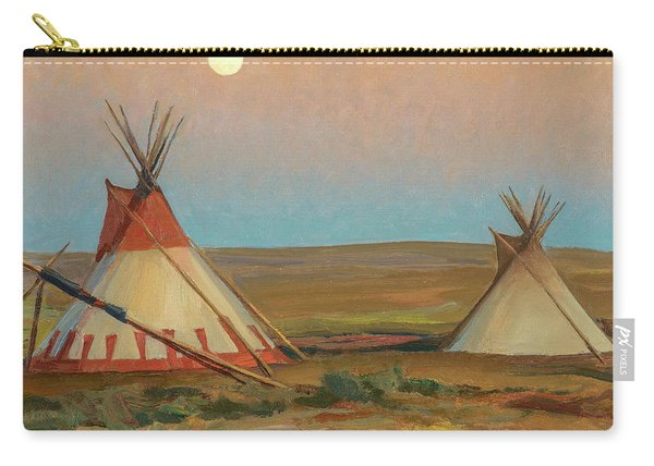 Evening On The Blackfeet Reservation, 1917 Carry-all Pouch