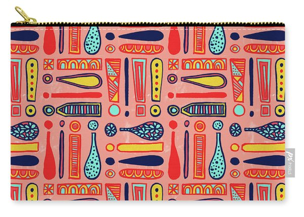 Exclamations Pattern Carry-all Pouch