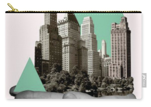 Exquisite Buildings On Palm Carry-all Pouch