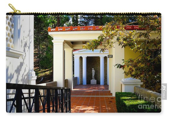 Exterior Courtyard Getty Villa I  Carry-all Pouch