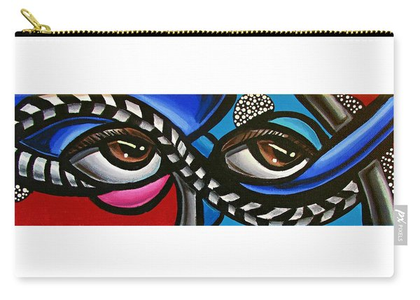 Eye Art Painting Abstract Chromatic Painting Electric Energy Artwork Carry-all Pouch