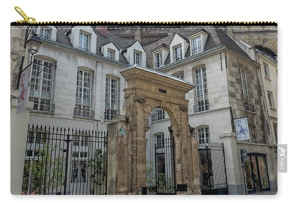 Facade On Rue Des Rosiers Carry-all Pouch