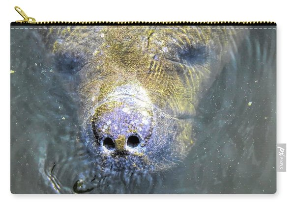 Face Of The Manatee Carry-all Pouch