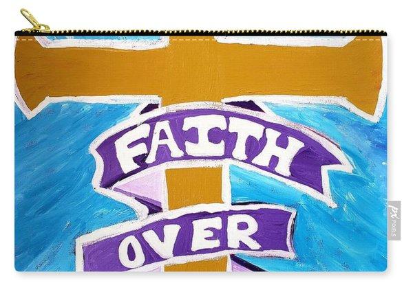 Faith Over Fear Cross  Carry-all Pouch