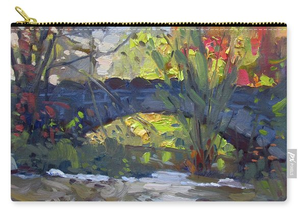 Fall At Stone Bridge In Goat Island Carry-all Pouch