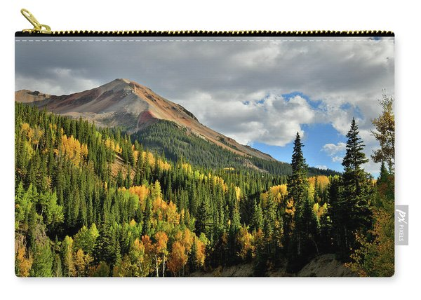 Fall Color Aspens Beneath Red Mountain Carry-all Pouch