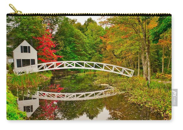 Fall Footbridge Reflection Carry-all Pouch