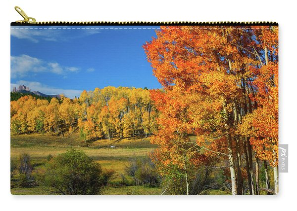 Carry-all Pouch featuring the photograph Fall In The Elks by John De Bord