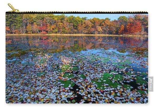 Fallen Leaves On Lake, Daingerfield Carry-all Pouch