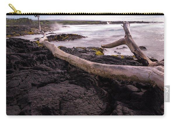 Fallen Tree At Punalu'u Beach Carry-all Pouch