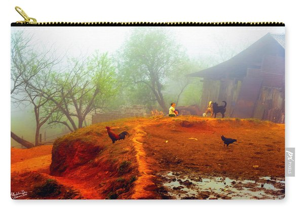 Family On A Hill In Sapa, Vietnam Carry-all Pouch