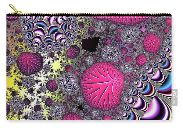 Carry-all Pouch featuring the digital art Fantasy World Red Modern Art by Don Northup