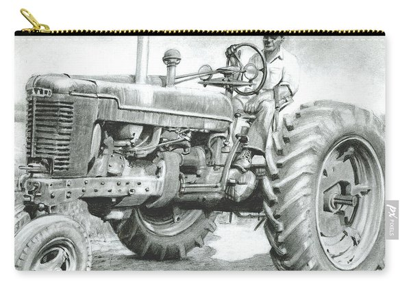 Farmer Riding Tractor Carry-all Pouch