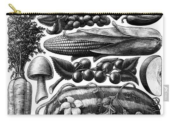 Farmer's Market - Bw Carry-all Pouch