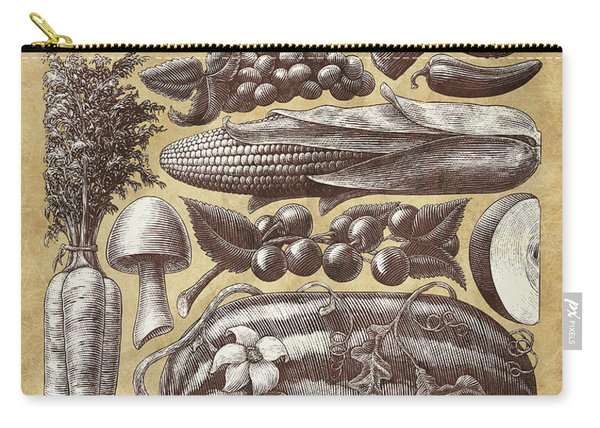 Farmer's Market - Sepia Carry-all Pouch