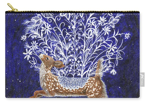 Fawn Bouquet Carry-all Pouch