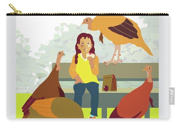 Feeding The Birds Carry-all Pouch