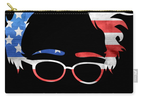 Carry-all Pouch featuring the digital art Feel The Bern Patriotic by Flippin Sweet Gear