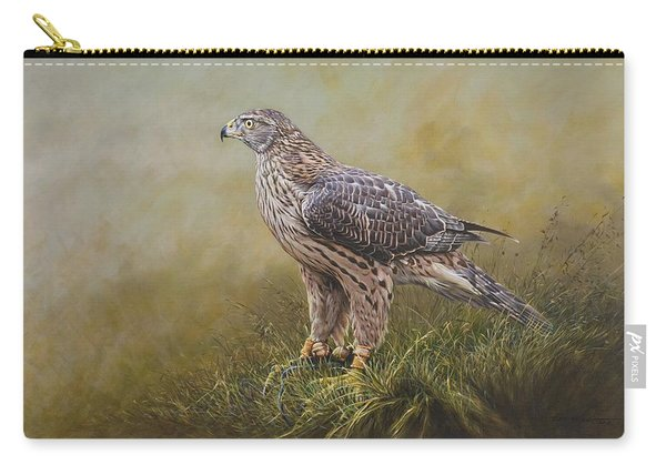 Female Goshawk Paintings Carry-all Pouch