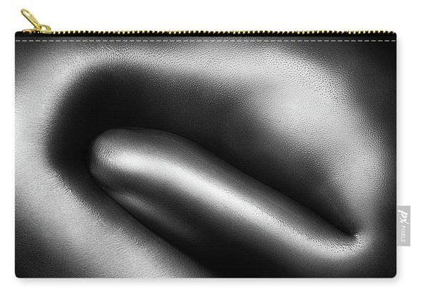 Female Nude Silver Oil Close-up 3 Carry-all Pouch