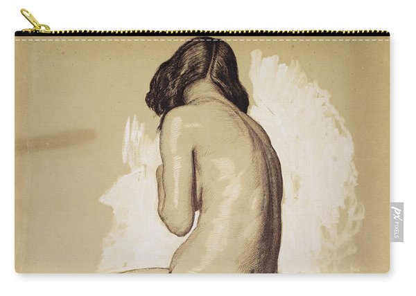 Female Nude, Study From Behind - Digital Remastered Edition Carry-all Pouch