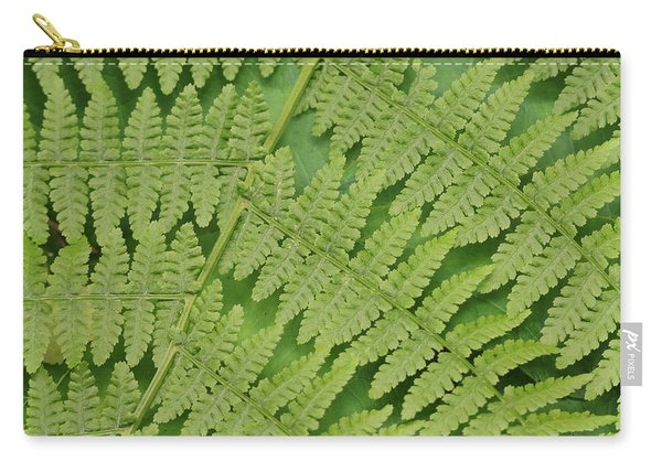 Fern Fronds Over Green Leaf Carry-all Pouch