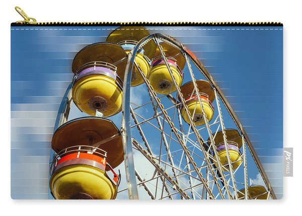Ferris Wheel On Mosaic Blurred Background Carry-all Pouch