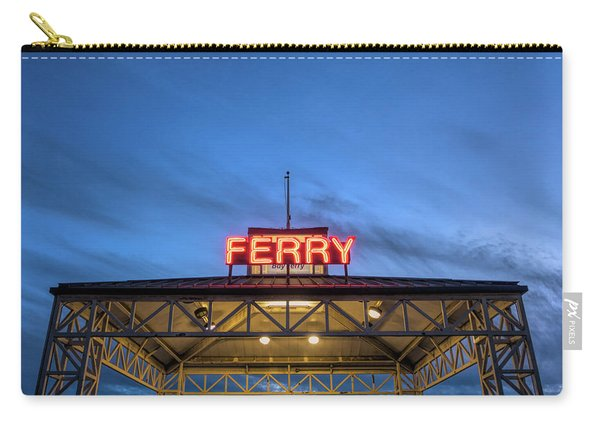 Ferry Terminal At Dusk, Jack London Carry-all Pouch