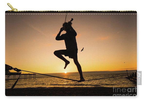 Fiddle Playing At Sunset In Aberystwyth Carry-all Pouch