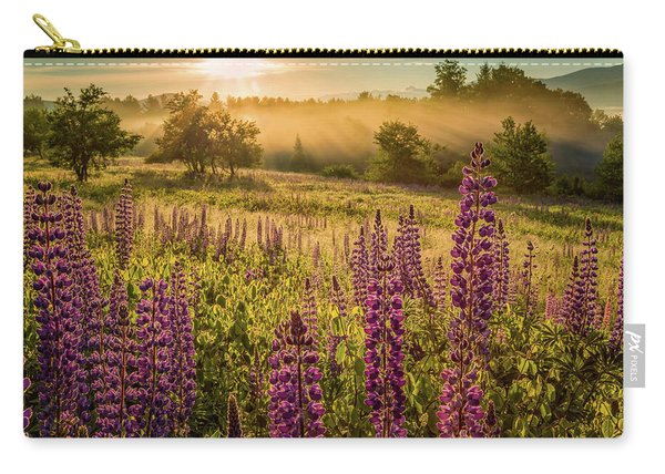 Carry-all Pouch featuring the photograph Fields Of Lupine by Jeff Sinon