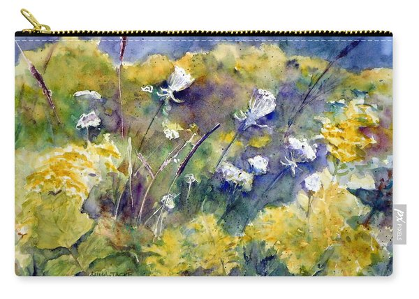 Fields Of White And Gold Carry-all Pouch