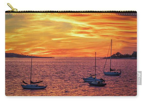Fiery Sunrise Over Casco Bay Carry-all Pouch
