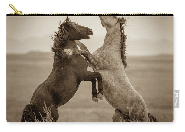 Fighting Stallions Carry-all Pouch