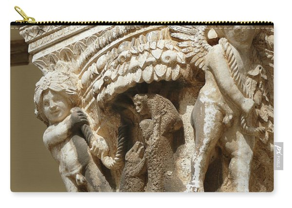 Figures On Capitals Of The Rector's Palace Carry-all Pouch