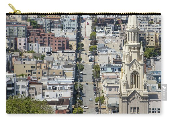 Filbert Street San Francisco Cityscape R504 Sq Carry-all Pouch