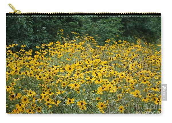 Carry-all Pouch featuring the photograph Field Of Flowers by Jimmy Clark