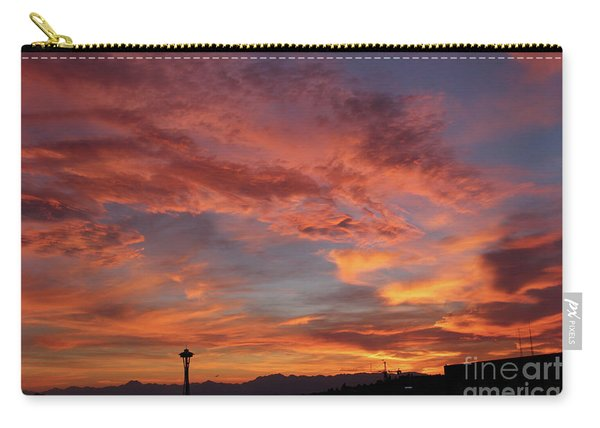 Firey Red Seattle Sky Carry-all Pouch
