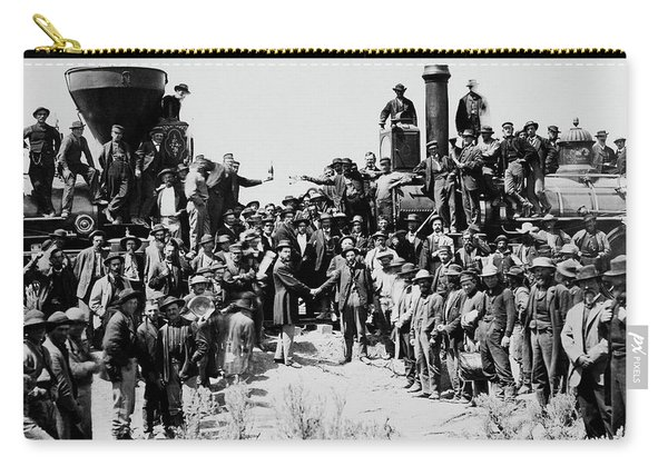 First Opening Of The Transcontinental Railroad - 1869 Carry-all Pouch