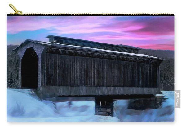 Fisher Raiilroad Covered Bridge Wolcott Vermont. Carry-all Pouch