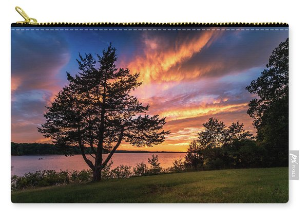 Fishing At End Of Day Carry-all Pouch