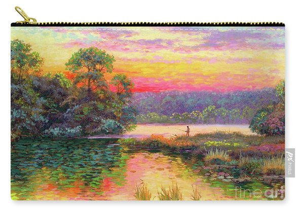 Fishing In Evening Glow Carry-all Pouch