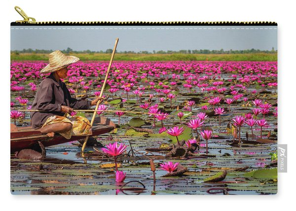 Fishing In The Red Lotus Lake Carry-all Pouch