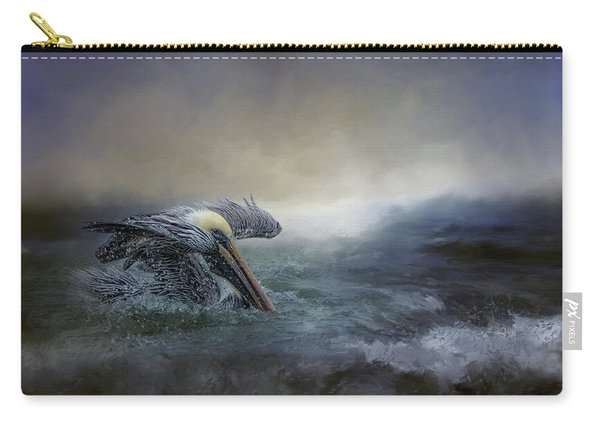 Fishing In The Storm Carry-all Pouch