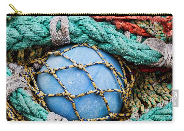 Fishing Nets And Blue Float 7904 Carry-all Pouch