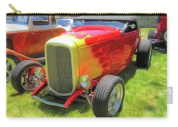 Flamed Red 1932 Ford Roadster Carry-all Pouch