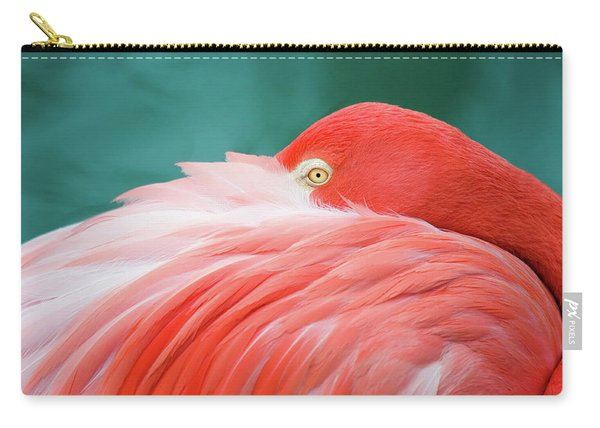 Flamingo At Rest Carry-all Pouch
