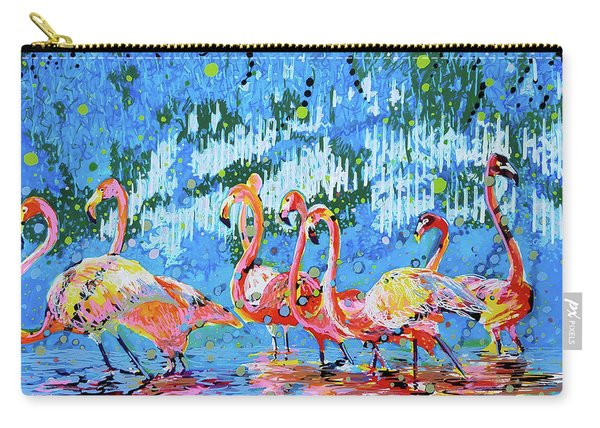 Flamingo Pat Party Carry-all Pouch