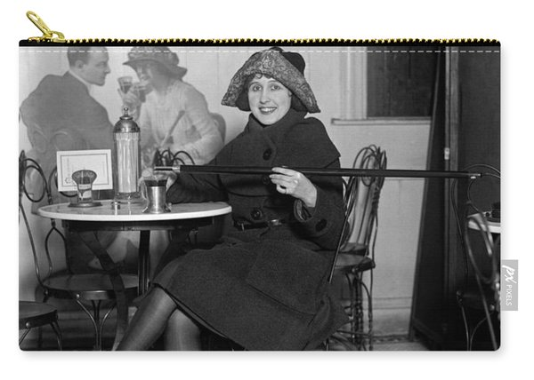 Flapper With Hidden Booze Cane - Prohibition - 1922 Carry-all Pouch