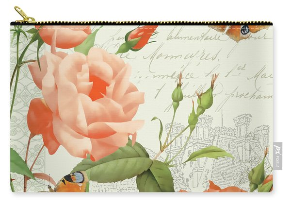 Fleurs Francaises A Carry-all Pouch